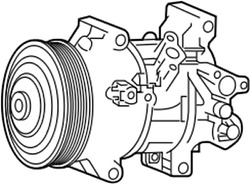 88310-1a841 Toyota Compressor Assy W/pulley 883101a841 New Genuine Oem Part