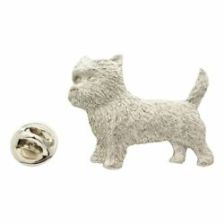 Cairn Terrier Pin ~ Antiqued Pewter ~ Lapel Pin