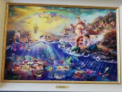Thomas Kinkade  Rare Disney Canvas Limited Edition RE  Painting- Hand signed