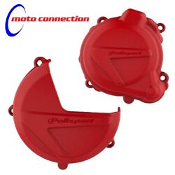 POLISPORT CLUTCH & IGNITION COVERS PROTECTORS RED BETA 250RR 300RR 2013 - 2017