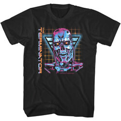 OFFICIAL Terminator T 800 Retro 80#x27;s Men#x27;s T Shirt Cyberdyne Systems