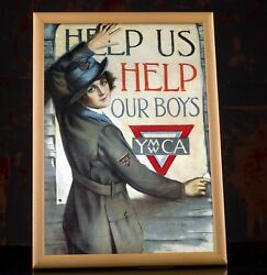 Ww1 American Propaganda Poster Andndash Help Us Help Our Boys Ymca Military Prints