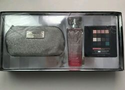 VICTORIA'S SECRET ANGEL MAKEUP BAG FRAGRANCE MIST AND MAKEUP KIT SET ~ NIB
