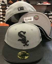New Era Cap 59FIFTY Chicago White Sox storm Gray Black Hat Fitted 5950 Grey