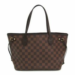 Louis Vuitton Damier Neverfull PM N51109 Women's Tote Bag Ebene BF320575