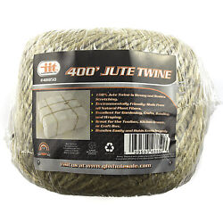400#x27; PREMIUM ALL NATURAL JUTE TWINE STRING HEAVY DUTY Cord Rope Craft Gift DIY