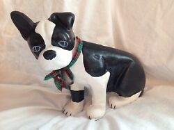 Boston Terrier Dog doorstop cast iron Mother's Day Gift Collectible