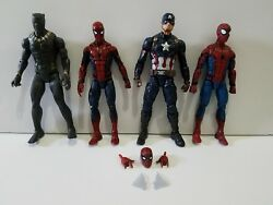 Marvel Legends loose lot Spider-Man Homecoming x2 Captain America Black Panther