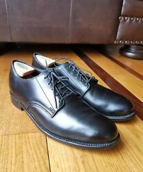 WALK OVER For J. CREW Black Leather Plain Toe Oxford Shoe Size 10M Made In USA $59.99