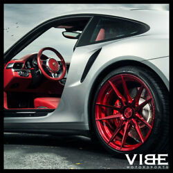 20 Rohana Rf2 Red Concave Wheels Rims Michelin Tires Fits Cadillac Cts V Coupe
