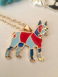 Boston Terrier necklace Boston jewelry Boston Terrier gift dog breed gifts