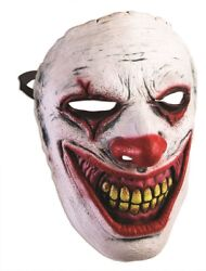 Frontal Mask Evil Clown Adult Costume Accessory Halloween Party One Size