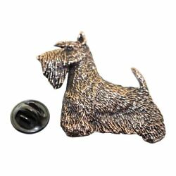 Scotty or Scottish Terrier Pin ~ Antiqued Copper ~ Lapel Pin