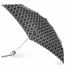 Totes  Signature Micro Manual Compact Umbrella Metro Dot One Size