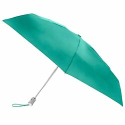 Totes Classics Micro Manual Compact Umbrella Green Jade One Size