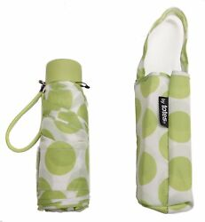 TOTES NeverWet MICRO MINI PURSE MANUAL UMBRELLA White With Big Green Dots
