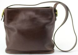 COACH BLACK LEATHER BUCKET BAG WITH MAGNETIC CLOSURES MADE IN COSTA RICA 6010