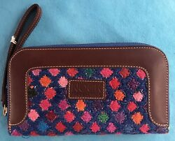 Beautiful Fine one of a kind Mexican Women's embroidered Wallet New