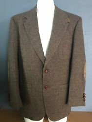 Stafford 39 R Tweed Pure Wool Leather Elbow Patches Men's Jacket Sport Coat