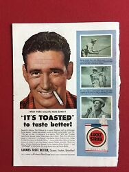 1954, Ted Williams, Lucky Strike Cigarette Ad Scarce