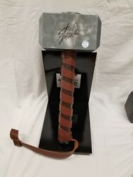 Marvel Factory X Signed By Stan Lee Thorand039s Hammer Mjolnir Prop Replica Statue .