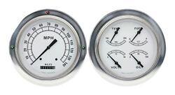 1954-1955 Chevrolet Chevy Truck Direct Fit Gauge Classic White Ct54cw52