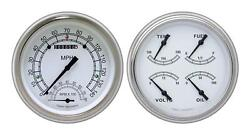 1951-1952 Chevrolet Chevy Direct Fit Gauge Classic White Ch51cw62