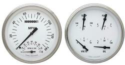 1947-1953 Chevy Gm Pick-up Direct Fit Gauge White Hot Ct47wh62