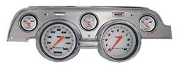 1967-1968 Ford Mustang Direct Fit Gauge Velocity White Mu67vswba
