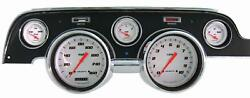 1967-1968 Ford Mustang Direct Fit Gauge Velocity White Mu67vsw