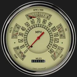 1961-1966 Ford F-100 Direct Fit Gauge Tan Ft61t