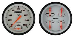 1947-1953 Chevy Gm Pick-up Direct Fit Gauge Velocity White Ct47vsw62