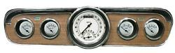 1965-1966 Ford Mustang Direct Fit Gauge Classic White Mu65cw35