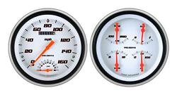 1951-1952 Chevrolet Chevy Direct Fit Gauge Velocity White Ch51vsw62