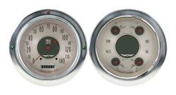 1954-1955 Chevrolet Chevy Truck Direct Fit Gauge American Nickel Ct54an52