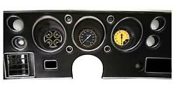 1970-72 Chevelle Direct Fit Classic Instruments Gauges Auto Cross Yellow Cv70axy