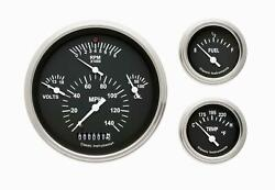 1957 Chevrolet Chevy Direct Fit Gauge Black Ch01bslf