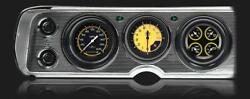 1964 Chevelle Classic Instruments Direct Fit Gauges Autocross Yellow Cv64axy