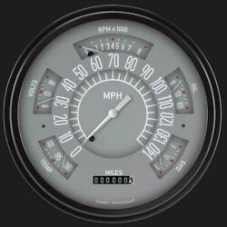 1966-1977 Ford Bronco Direct Fit Gauge Gray Fb66g