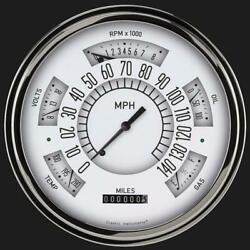 1949-1950 Chevy Classic Line Direct Fit Gauge White Ch49w