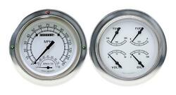1954-1955 Chevrolet Chevy Truck Direct Fit Gauge Classic White Ct54cw62