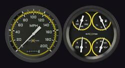 1954-1955 Chevrolet Chevy Truck Direct Fit Gauge Auto Cross Yellow Ct54axy52