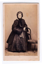 Florence Portrait Of A Mature And Safety Woman Cdv 1860c Luigi Reali Vi58
