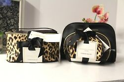 Adrienne Vittadini Cosmetic Makeup Bags AND Train Case and cosmetic bag (5) NWTs