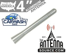 Short 4 Aluminum Silver Antenna Mast-fits 1985-1989 Plymouth Reliant