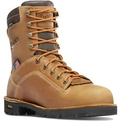 Danner 8 Quarry Usa Distressed Brown Alloy Toe Lace Up Work Boot 17317