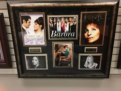 Barbra Streisand Deluxe Framed Autographed Beckett 8x10 Photo Collage