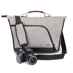 Messenger Camera Bag w Customizable Dividers and Weather Resistant Bottom $29.99