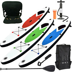 Inflatable Stand Up Paddle Board 305cm Sup With Ankle Strap Pump Carry Bag/seat