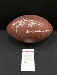 Ricky Williams Miami Dolphins Signed Game Used Nfl Official Football Jsa Witness